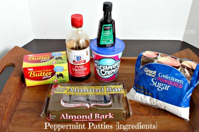 Homemade Peppermint Patties ingredients