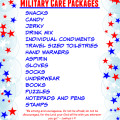 Printable Military Care Package List and Gift Ideas
