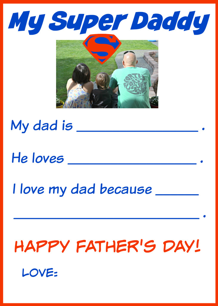 Super Fathers Day Card