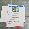 Super Father's Day Photo Card