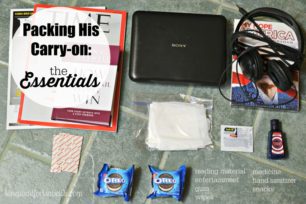 Carry On Essentials for Him