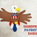 Handprint Patriotic Eagle Craft