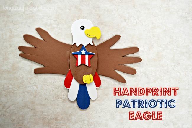 Handprint Patriotic Eagle Craft