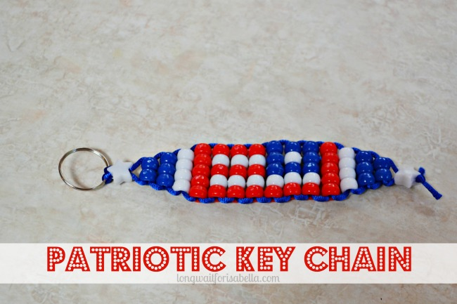Patriotic Keychain Bead Craft