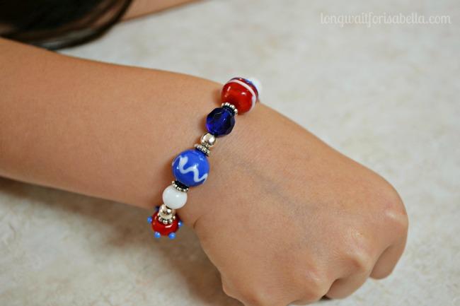 Patriotic Lampwork Bracelet