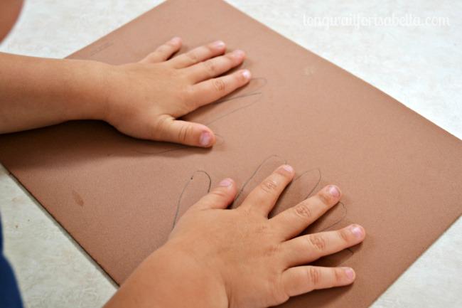 handprint foam craft