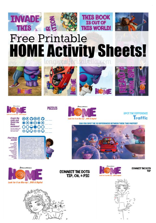 HOME Activity Printables