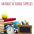 School supplies on white background, concept education