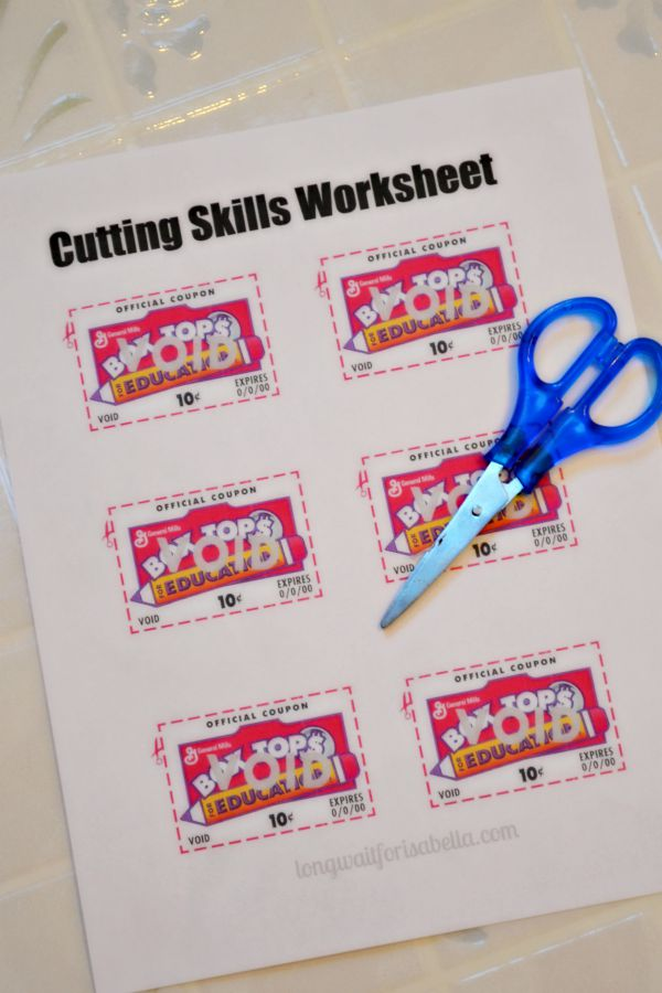 Cutting Skill Worksheet Printable
