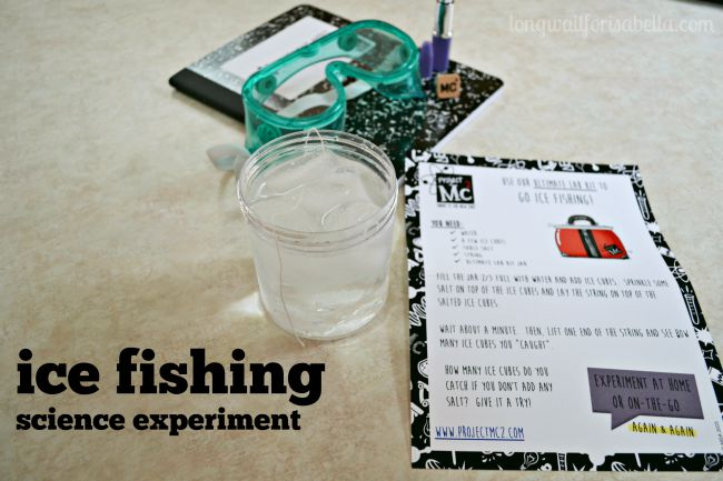 Ice Fishing Science Experiment