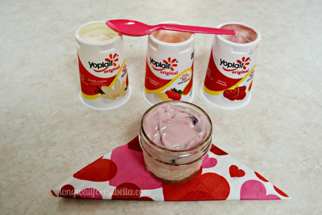 layered yoplait yogurt dessert