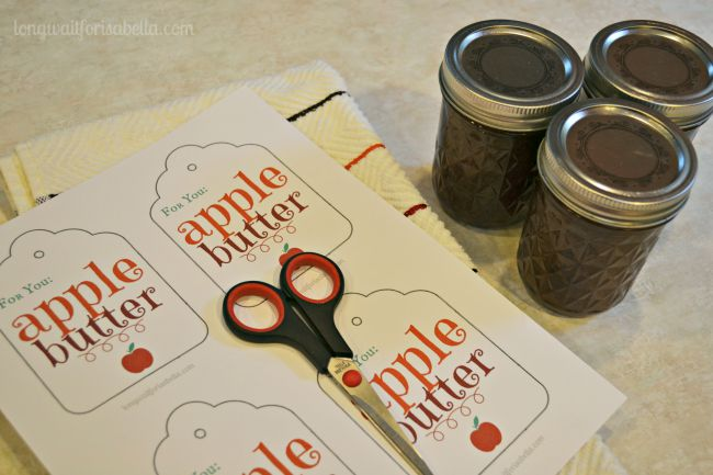 Apple Butter Printable Label