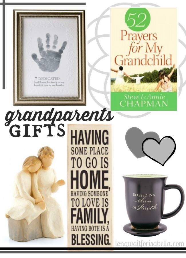40+ Gifts for Grandparents That Are Straight From the Heart. Give your Granny and G-Pa something they'll each treasure forever. If you're tempted to send pictures of the kids to Grandma and Grandpa, a phone call or FaceTime isn't enough. Let your grandparents know you're near, even from thousands of miles away, with this Wi-Fi-operated.
