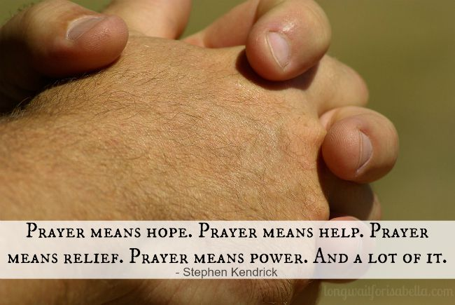 Prayer Means Hope Quote