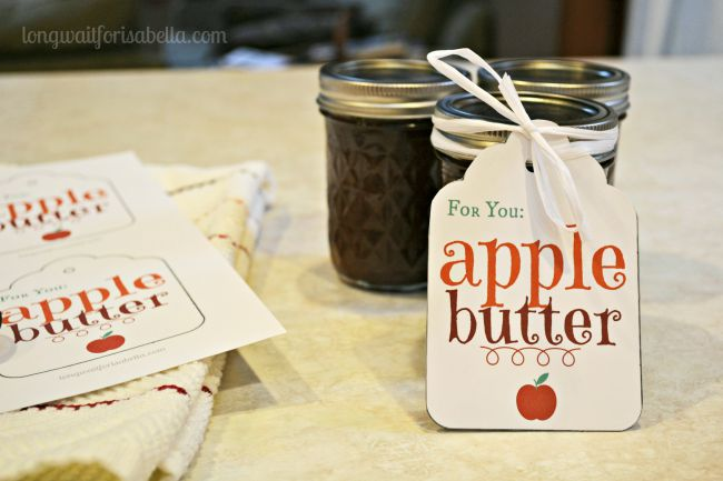 apple butter printable gift tag