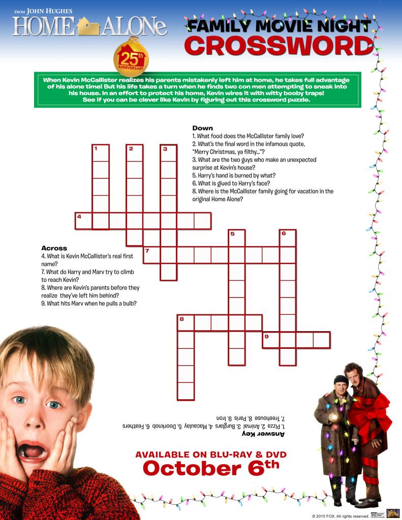 HomeAlone worksheet Crossword