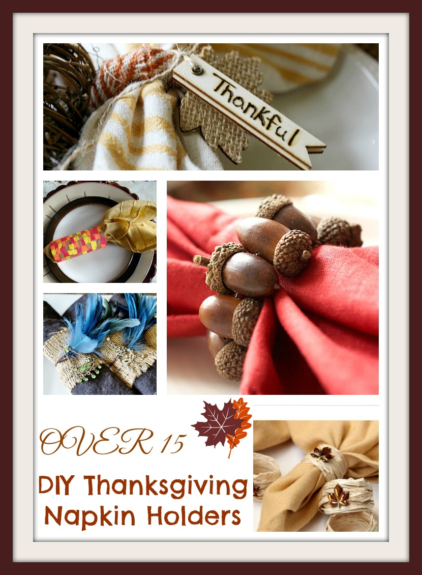 15 Diy Thanksgiving Napkin Rings