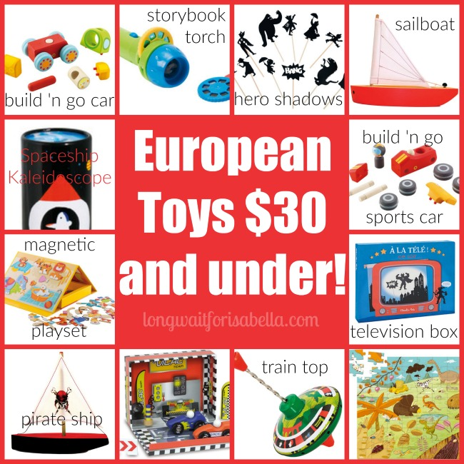 European Toys 30 and under