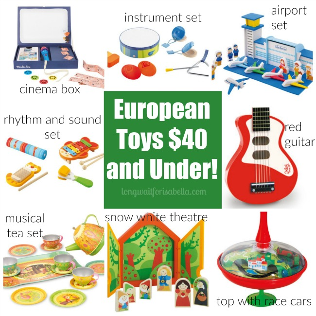 European Toys 40 and under