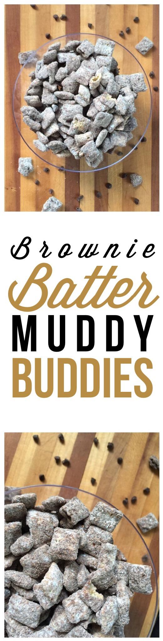 Brownie Batter Muddy Buddies collage