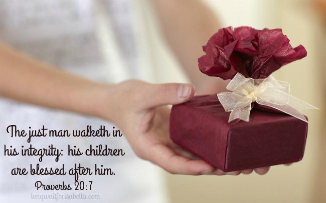 Proverbs 20 7 Verse