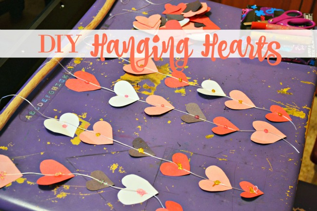 DIY Hanging Hearts