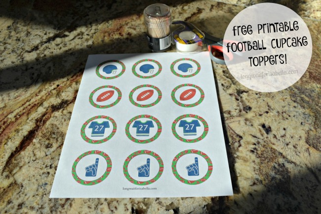 Free Printable Football Cupcake Toppers