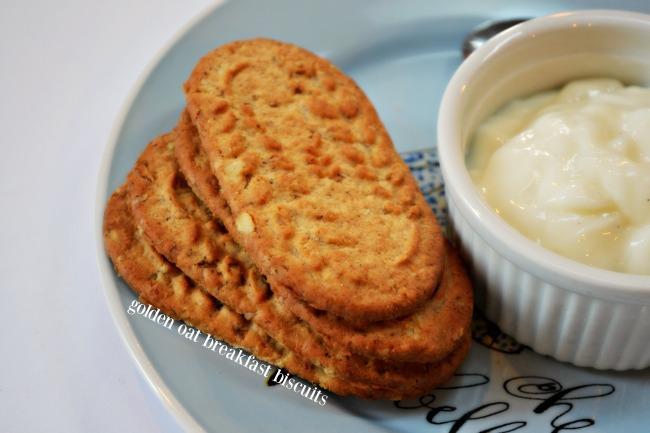 Golden Oat Breakfast Biscuits