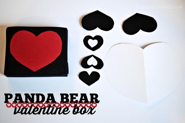 Schön Panda Bear Valentine Box Hearts