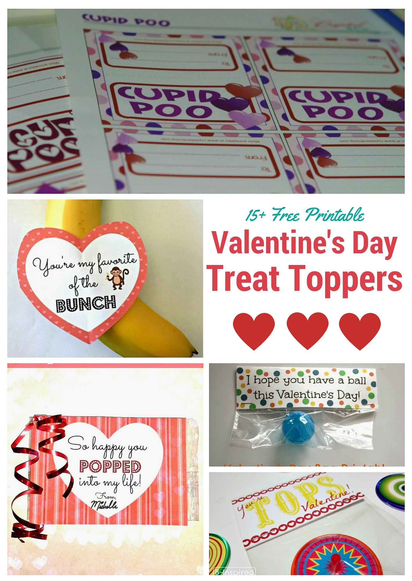 Valentines Day Treat Toppers
