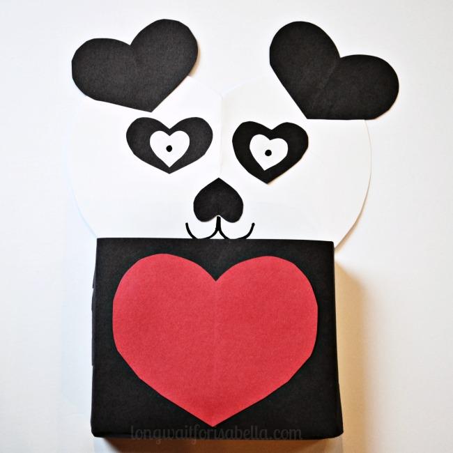 Schön Panda Bear Valentines Box