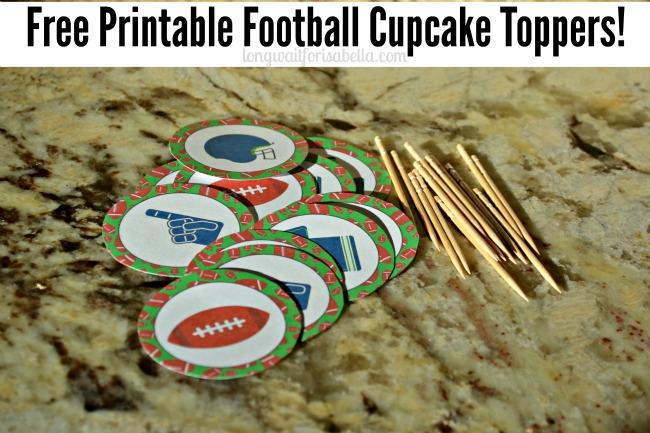 printable football cupcake toppers