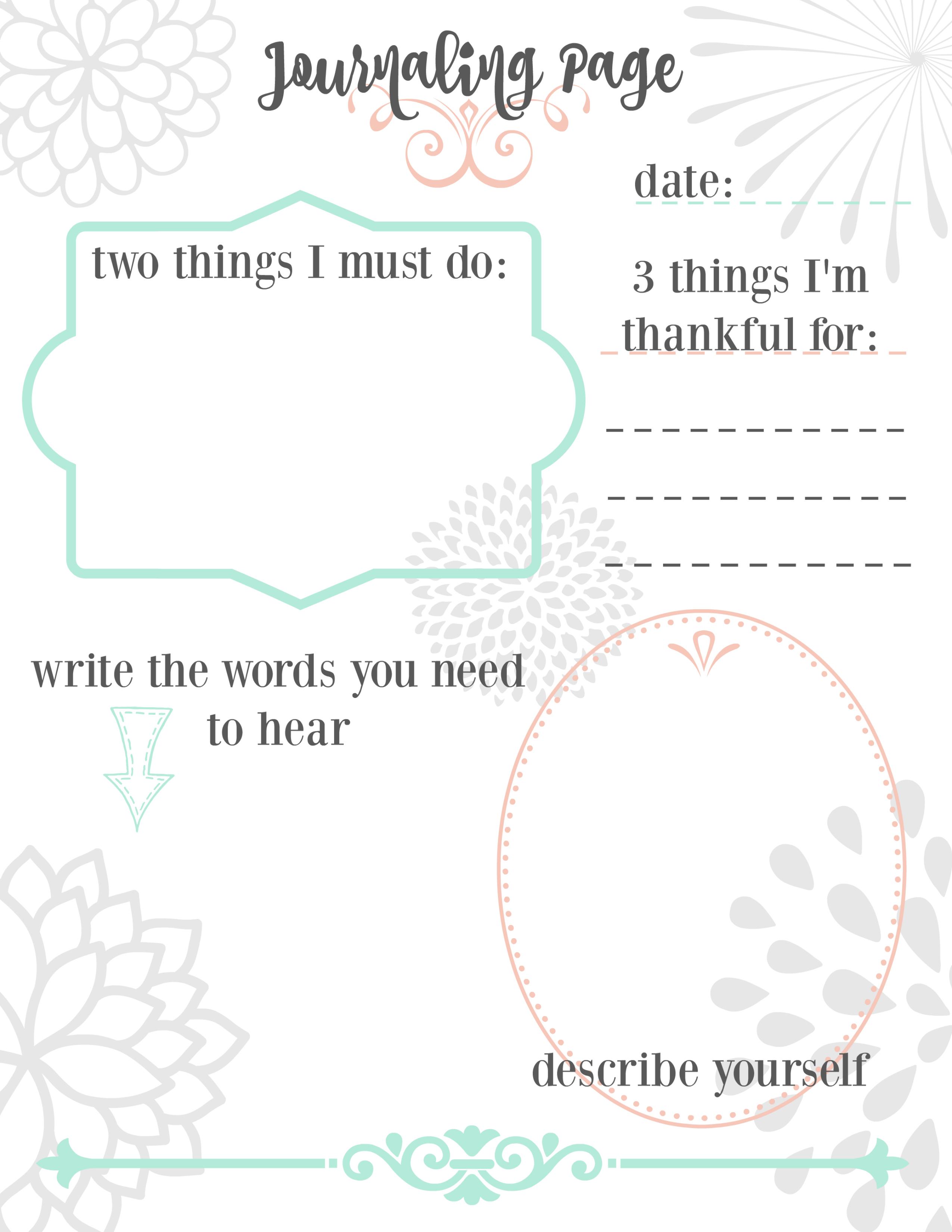 Printable Journaling Page