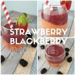 Layered Strawberry Blackberry Smoothie Recipe