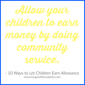 community service allowance