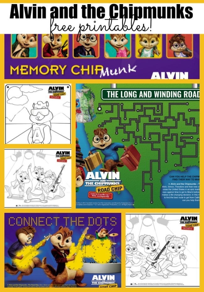 Free Alvin And The Chipmunks Printables