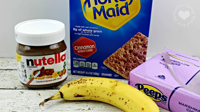 Nutella Banana Peep Smores Ingredients