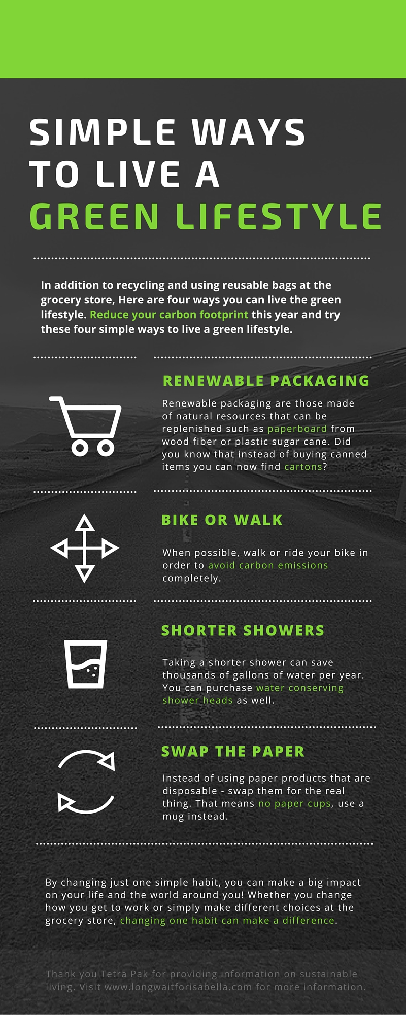 Ways To Live A Green Lifestyle Long Wait For Isabella