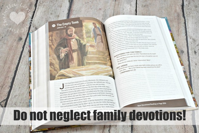 Do Not Neglect Family Devotions