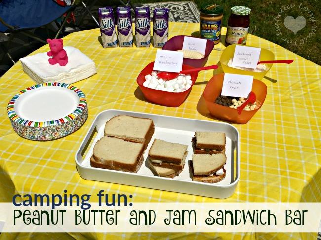 Peanut Butter and Jam Sandwich Bar