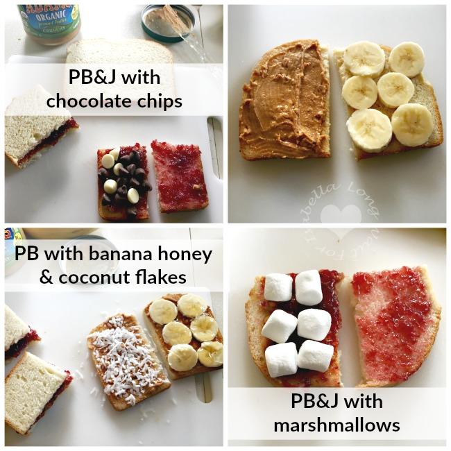 creative peanut butter sandwiches