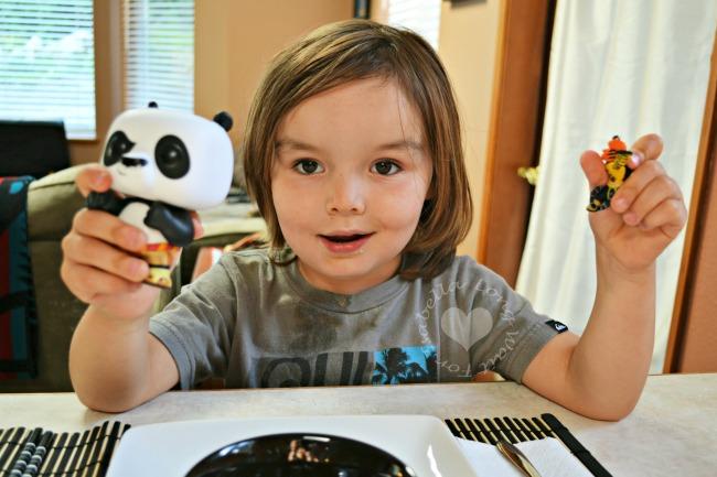 Enjoying Kung Fu Panda Toys