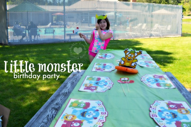 Little Monster Birthday Party Table