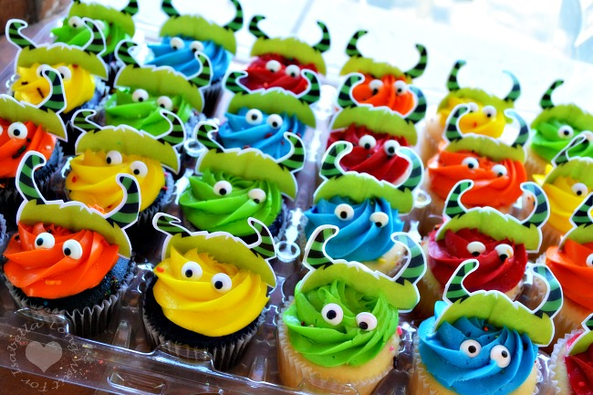 Monster Cupcakes for Little Monster Party