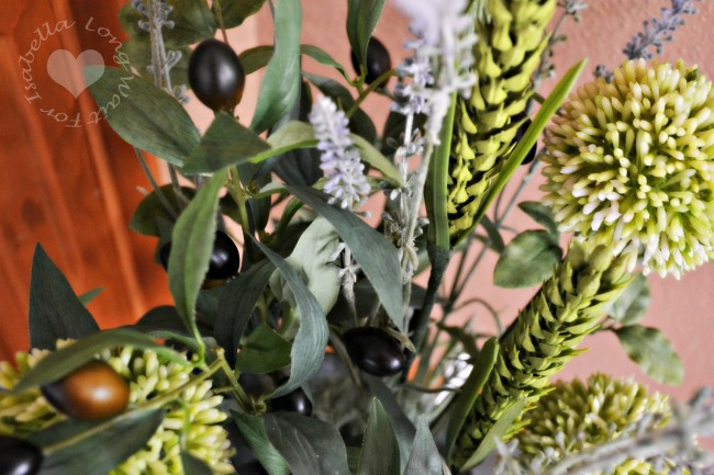 Olive and Lavender Silk Plant