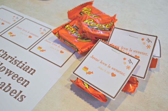 Print Out These Free Christian Halloween Candy Labels!