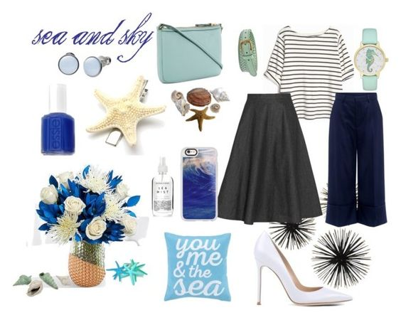 Sea and Sky Inspired Fall Outfit for Women