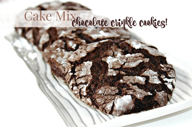 The Easiest Chocolate Crinkle Cookies Ever! Get this Recipe.