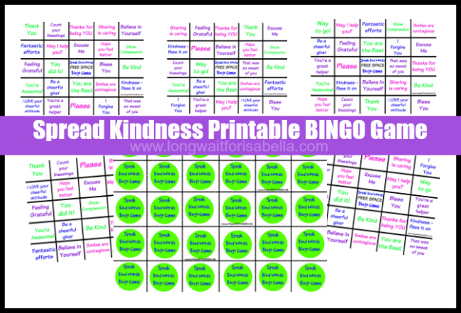 photograph regarding Free Printable Bible Bingo Cards named Totally free Printable Distribute Kindness Bingo Sport for Little ones!