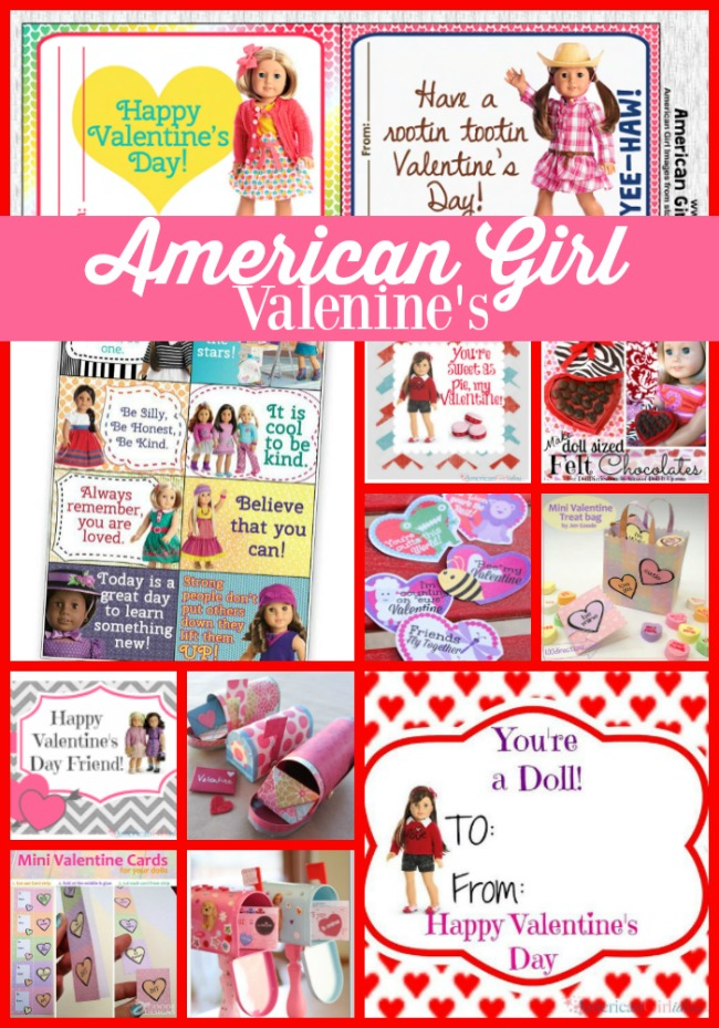 Love these American Girl Valentines Day Ideas – Girl Valentine Cards